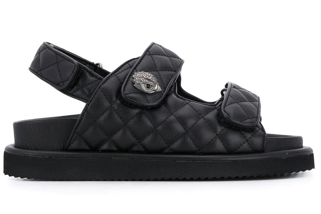 quilted sandals, ugly sandals, kurt geiger