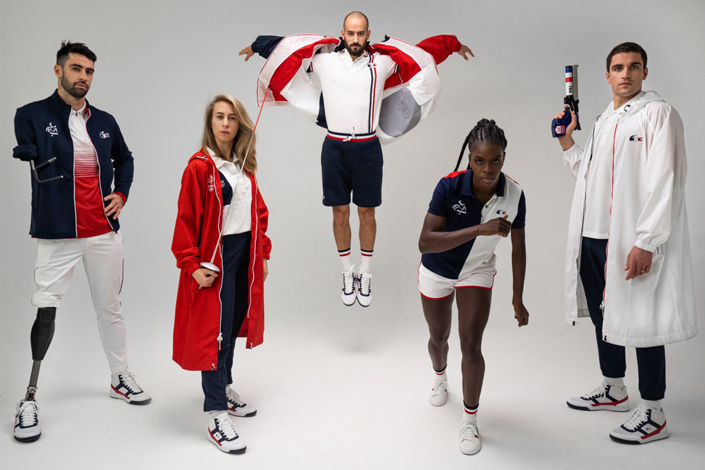 Lacoste French National Team Olympic Uniforms