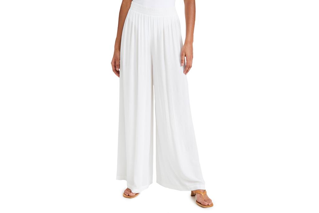 white pants, flowy, l'agence