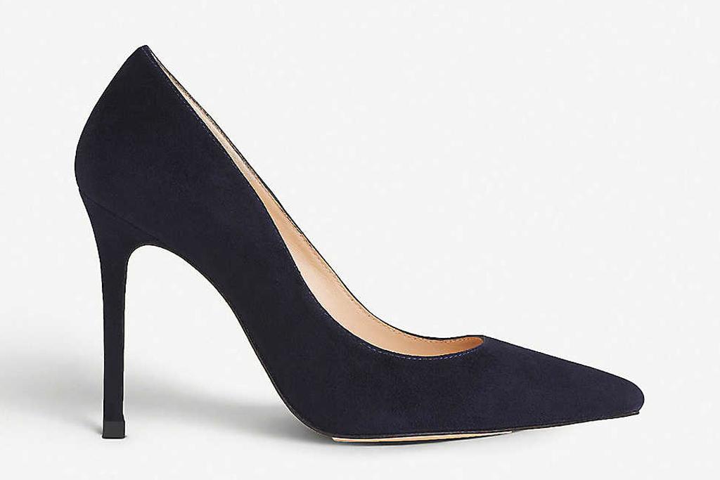 navy heels, pumps, lk bennett