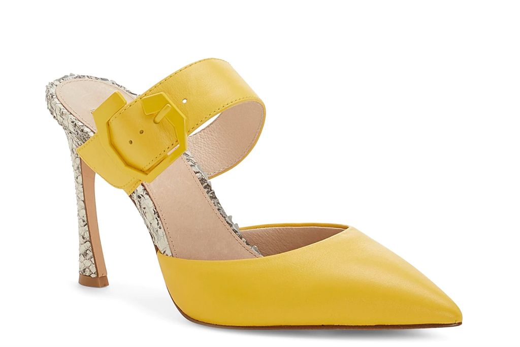 louise et cie, talila pump, yellow heels