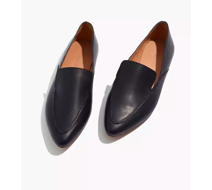 Madewell The Frances Skimmer in Leather, best flats for women