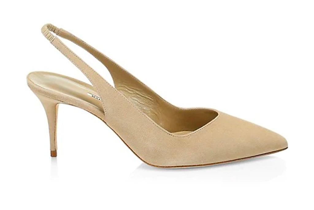 tan heels, nude slingbacks, manolo blahnik