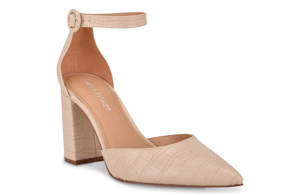marc fisher, gilson pump, block heels