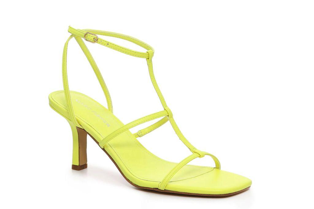 marc fisher, qulsa sandal, yellow sandal heels