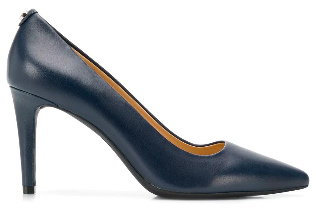 navy heels, pumps, michael kors