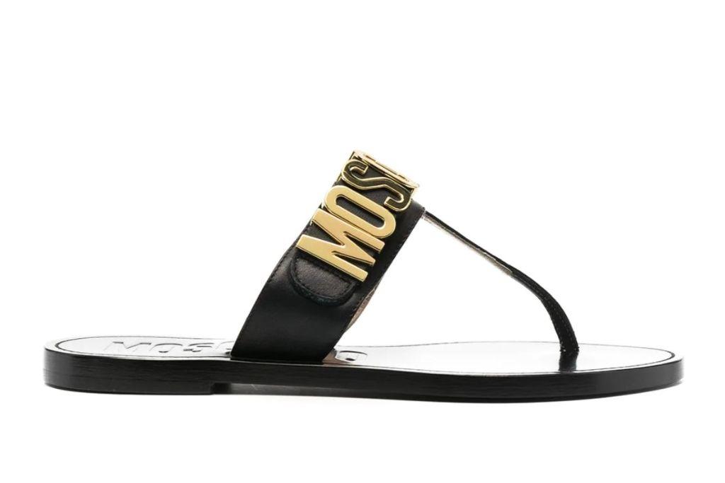 moschino, thong sandals