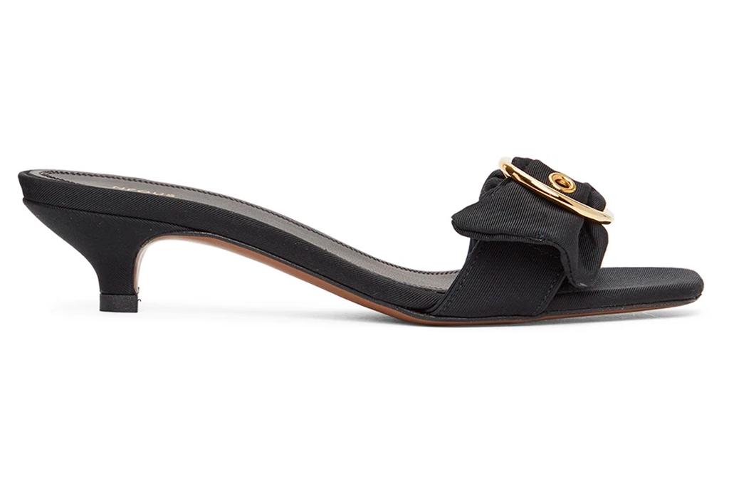 black heels, mules, kitten heels, neous
