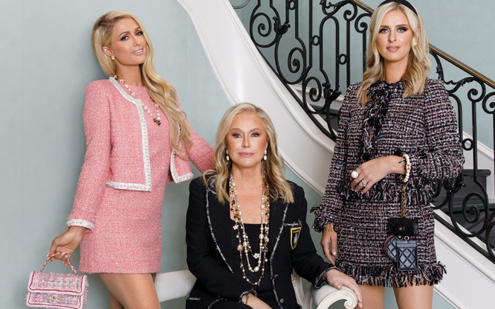 paris hilton, nicky hilton, kathy hilton, real housewives of beverly hills, kathy hilton home, fashion, french sole, chanel, prabal gurung, alice and olivia, footwear news