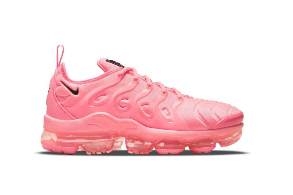nike, air vapor max, plus, pink sneakers