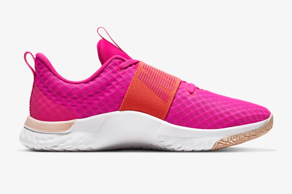 nike, in-season tr 9 shoes, pink shoes