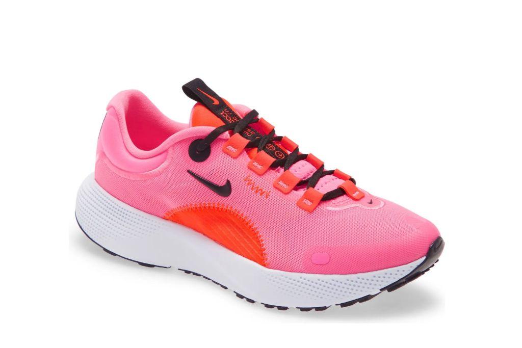 nike, react escape run running shoe, pink shoes