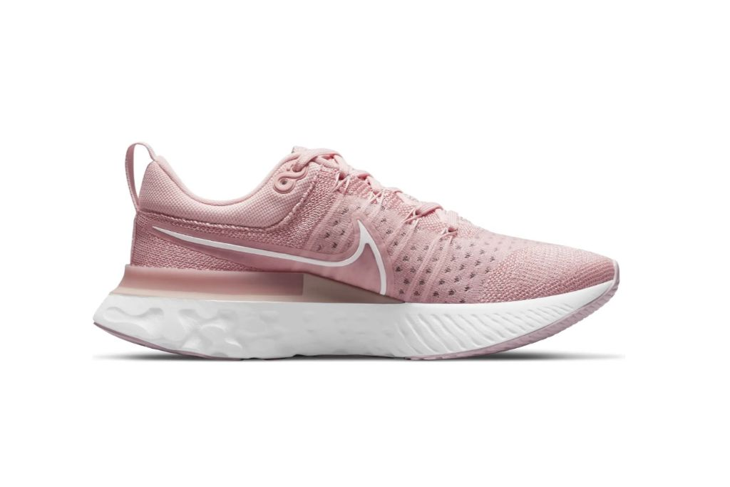 nike, react infinity running shoe, pink shoes