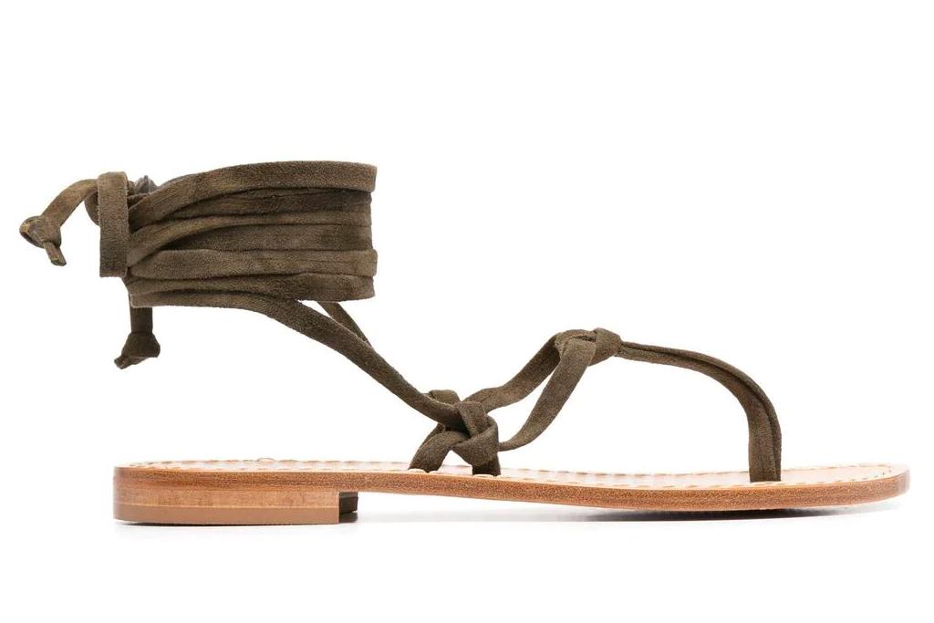 thong sandals, wrap, parosh