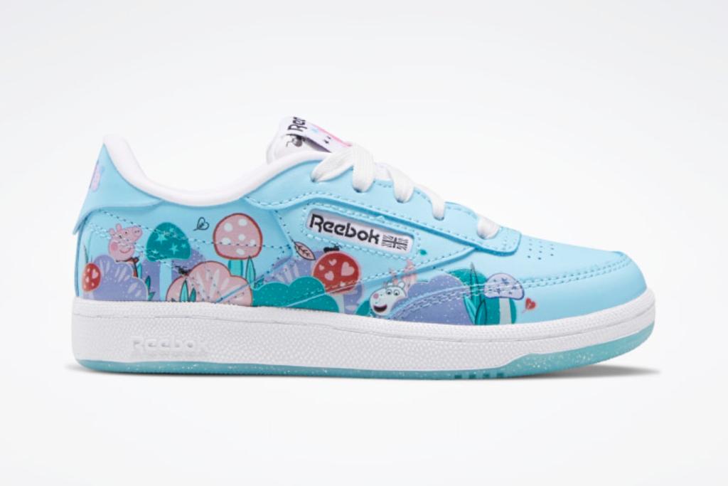 peppa pig, reebok, club c shoes