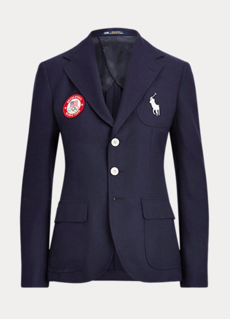 ralph lauren, team usa blazer, tokyo olympics merch