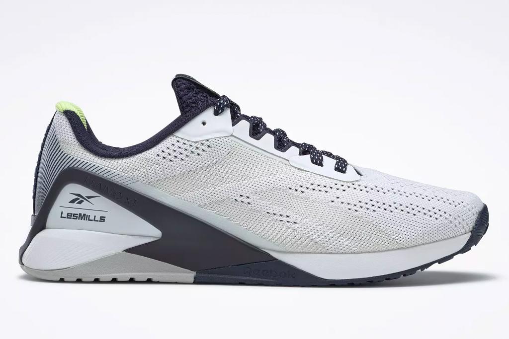 sneakers, white, black, reebok