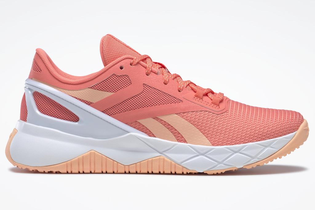 pink sneakers, gym shoes, reebok