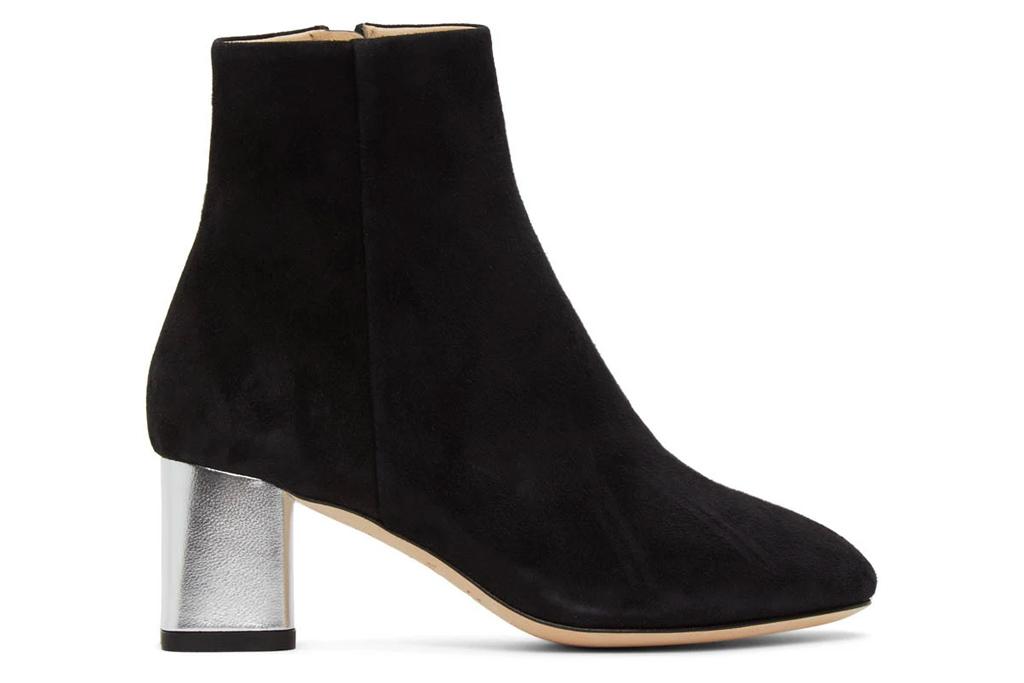 square toe boots, black, repetto
