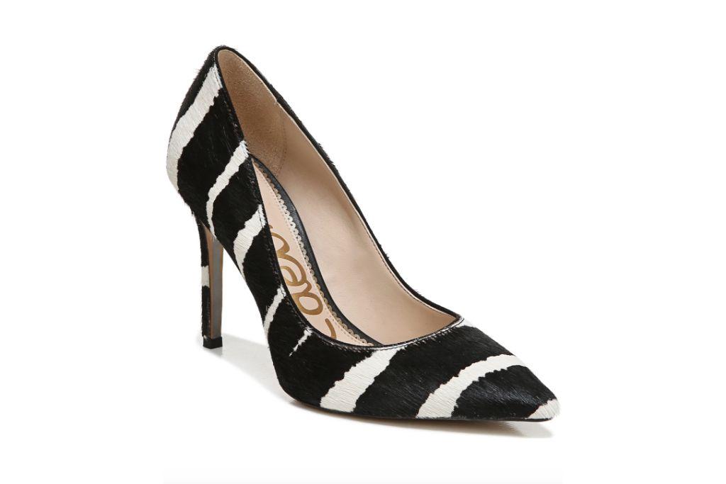 sam edelman, hazel pumps, black and white heels