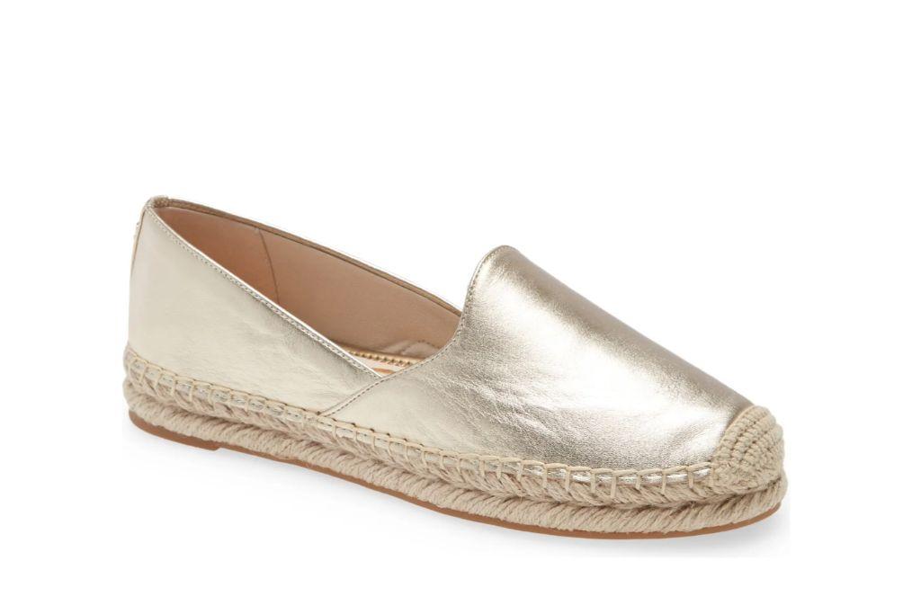 sam edelman, espadrilles, gold shoes