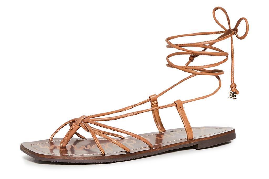 thong sandals, wrap, sam edelman