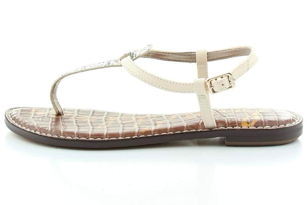 thong sandals, t strap, white, sam edelman
