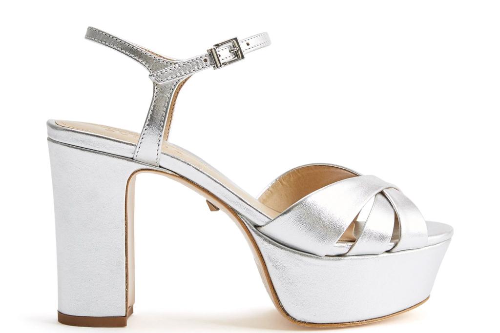 silver sandals, heels, platforms, schutz