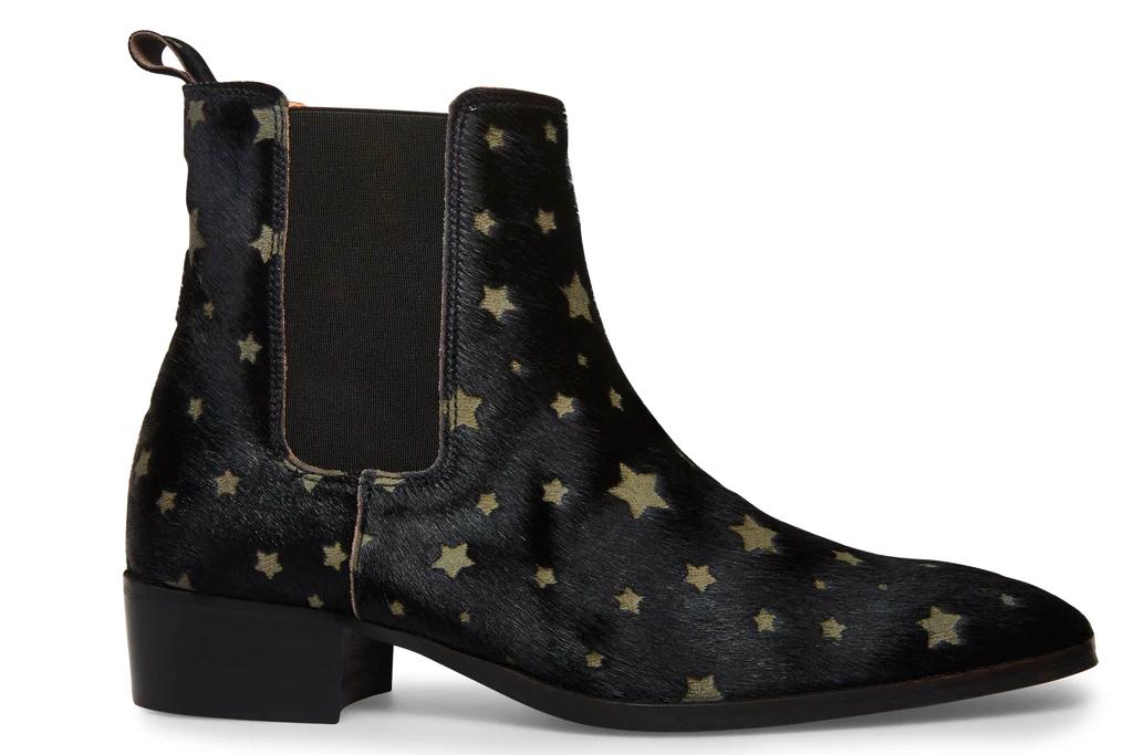 star boots, black, leather, steve madden