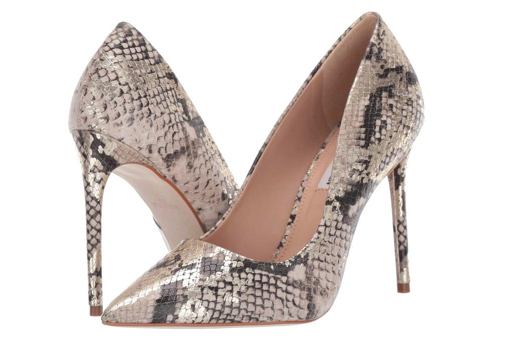 snakeskin heels, pumps, steve madden