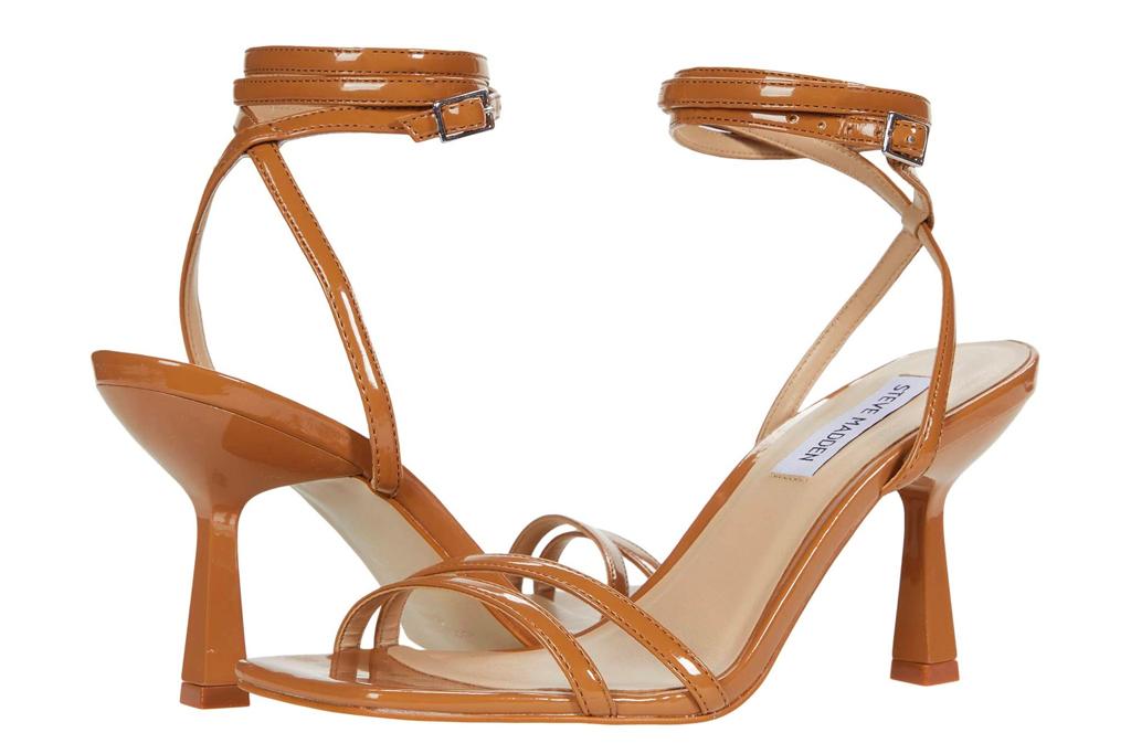sandals, nude heels, steve madden