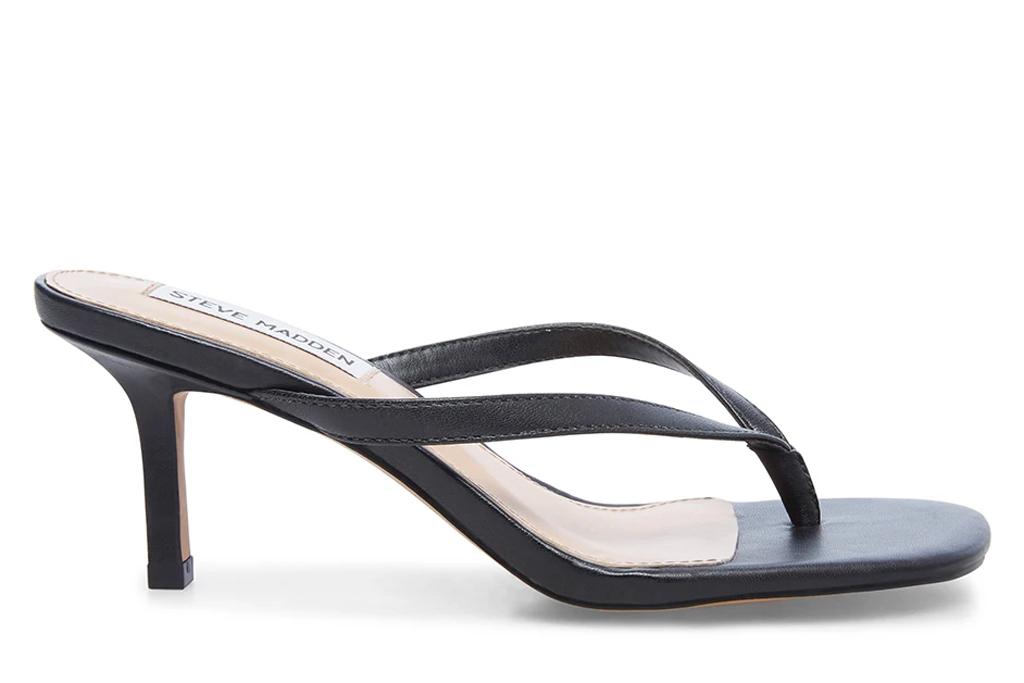 thong heels, sandals, steve madden