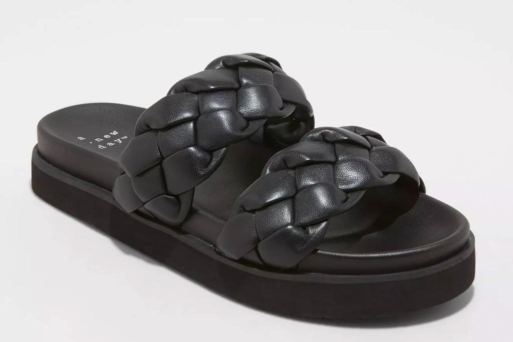 quilted sandals, ugly sandals, target