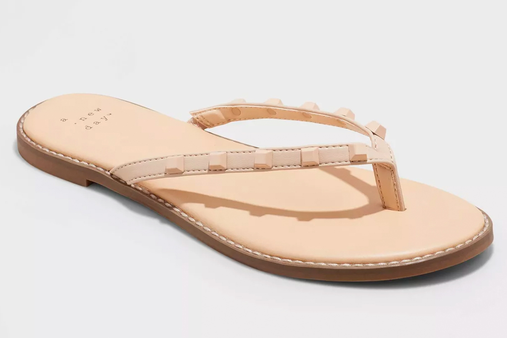tan flip flops, thong sandals, target