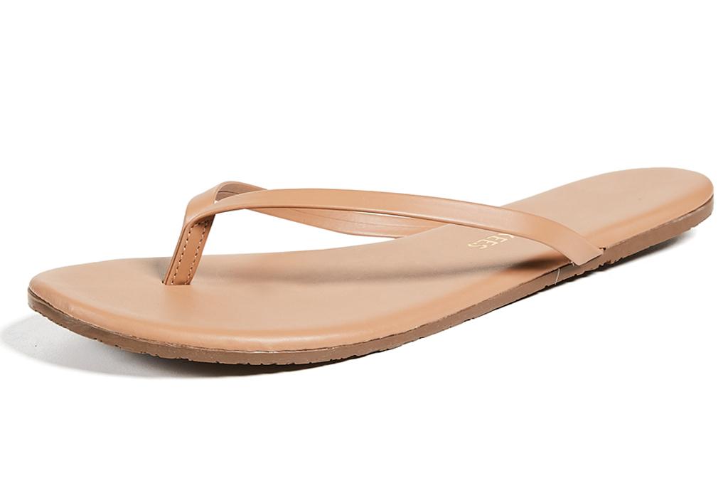 tan flip flops, thong sandals, tkees