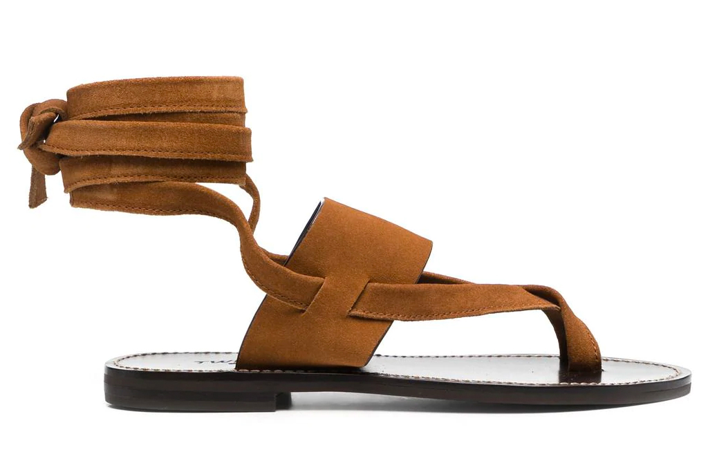 thong sandals, wrap, twinset
