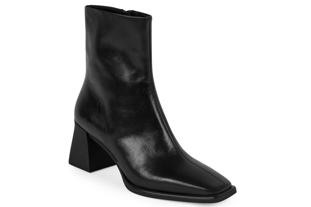 square toe boots, black, vagabond