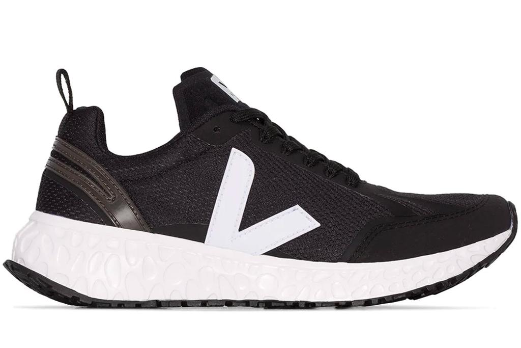 black sneakers, white, veja