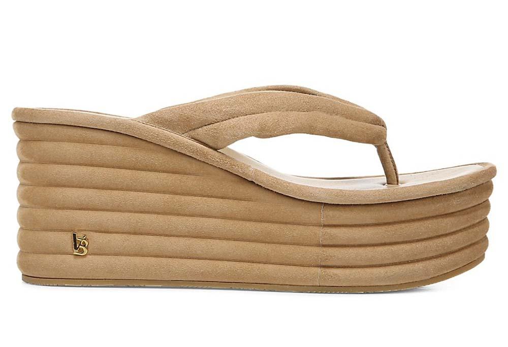 Veronica Beard Geno Platform Wedge Thong Sandals