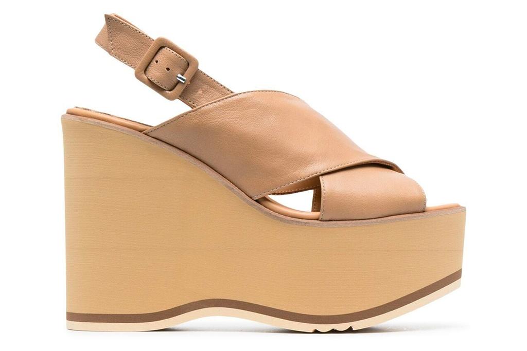 wedge sandals, heels, tan, paloma