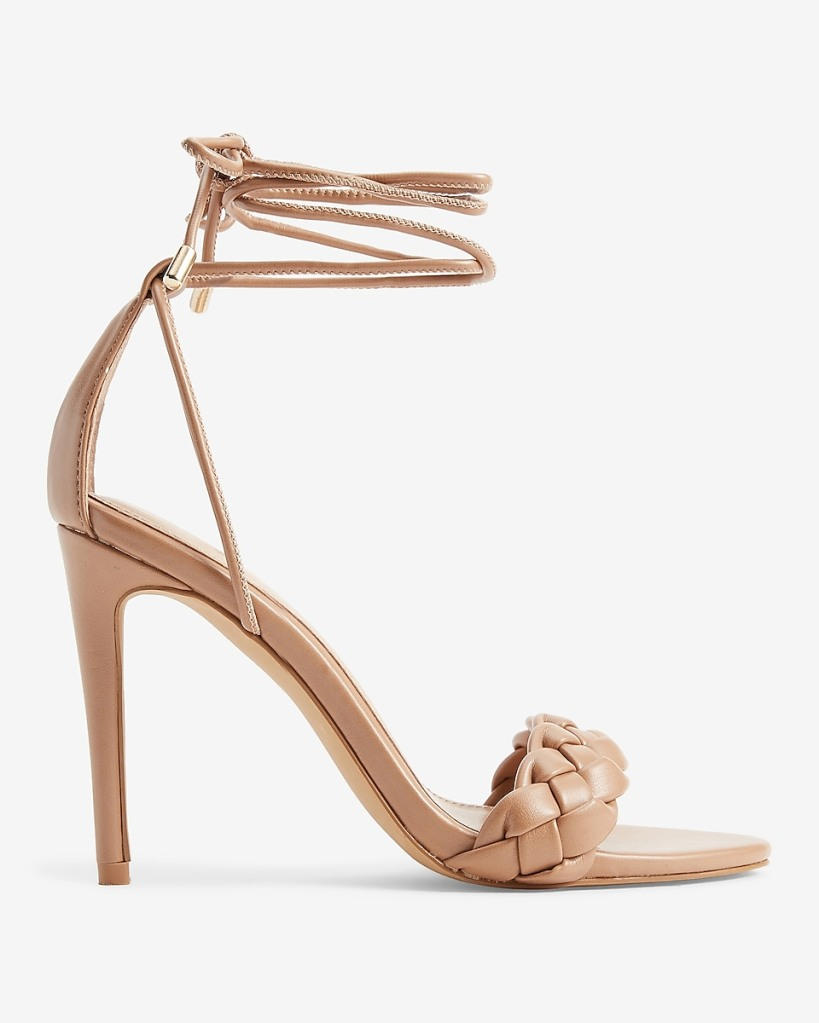 Express, ankle wrap sandals