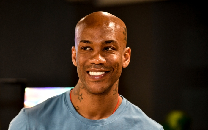 Retired American basketball player Stephon Marbury attends a fan meeting event in Beijing, China, 8 April 2019.  (Imaginechina via AP Images)