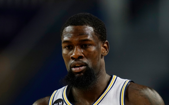 Michigan guard Chaundee Brown plays during the second half of an NCAA college basketball game, Sunday, Dec. 6, 2020, in Ann Arbor, Mich. (AP Photo/Carlos Osorio)