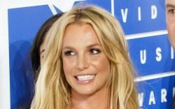 Britney Spears, platform sandals, minidress