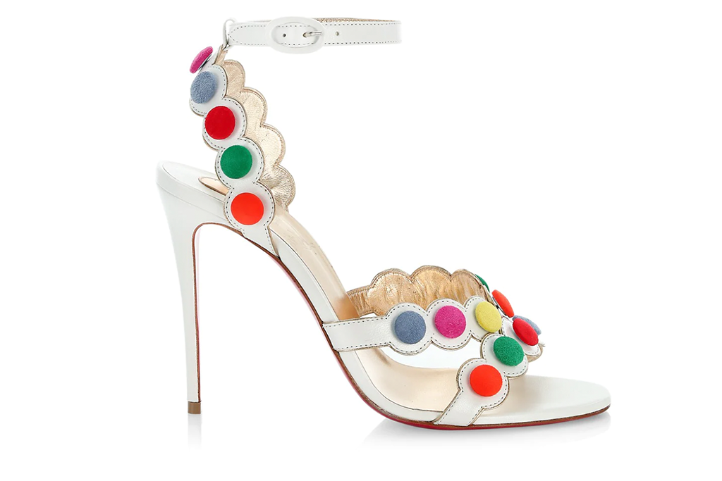 Christian Louboutin Smartissima 100 Multicolor Leather Ankle-Strap Sandals