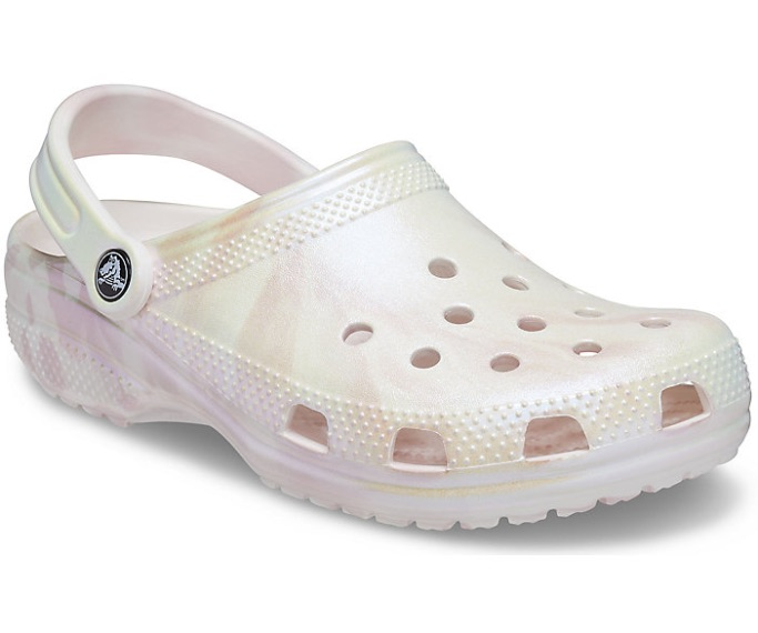 Classic Iridescent Marble Clog, how to style crocs