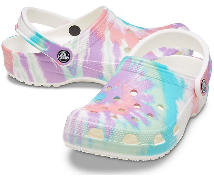 Classic Tie-Dye Graphic Clog, how to style crocs
