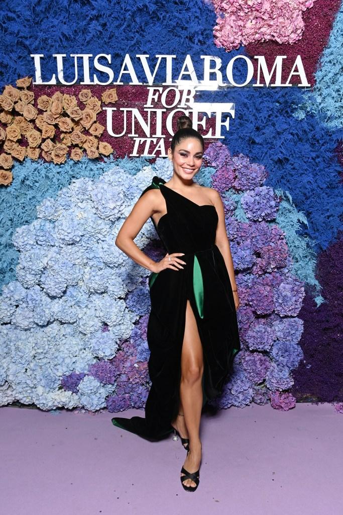 Vanessa Hudgens, Alexandre Vauthier, Aquazzura, mules, gown, UNICEF