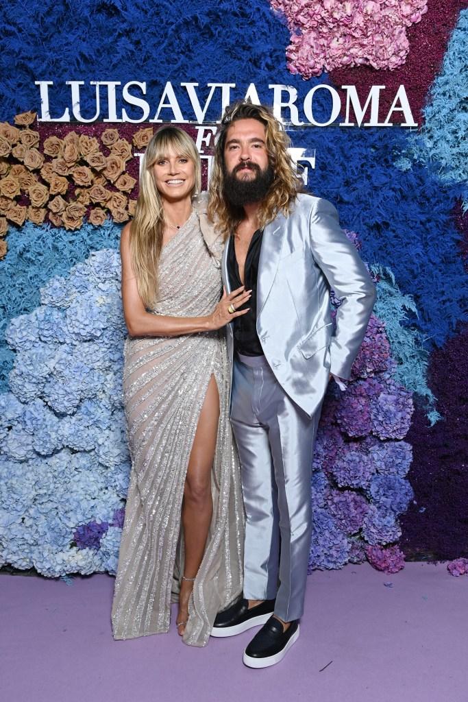 Heidi Klum, Tom Kaulitz, Elie Saab, Aquazzura, sandals, UNICEF, Capri, Italy, gala