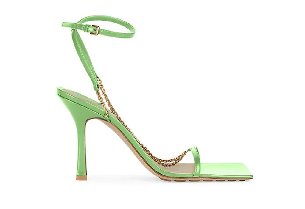 Bottega Veneta Stretch Chain Leather Sandals